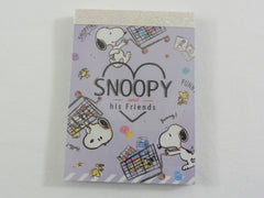 Cute Kawaii Snoopy Grocery Milk Mini Notepad / Memo Pad - Stationery Designer Writing Paper Collection