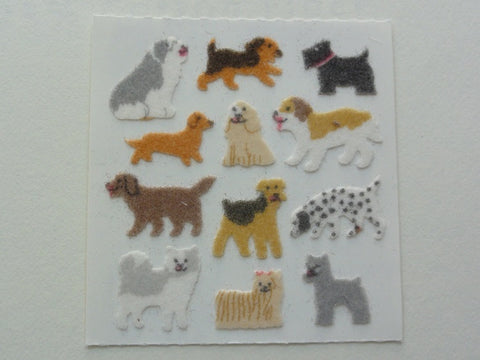 Sandylion Dogs Fuzzy Sticker Sheet / Module - Vintage & Collectible