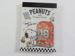 Cute Kawaii Snoopy Drinks Vending Machine Mini Notepad / Memo Pad - Stationery Designer Writing Paper Collection