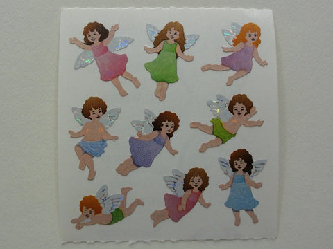 Sandylion Angels Glitter Sticker Sheet / Module - Vintage & Collectible