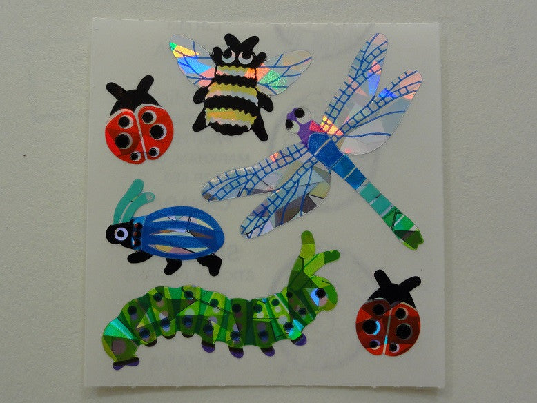 Sandylion Insects Prismatic Sticker Sheet / Module - Vintage & Collectible