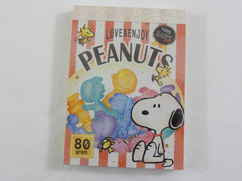 Cute Kawaii Snoopy Sweets Mini Notepad / Memo Pad - Stationery Designer Writing Paper Collection
