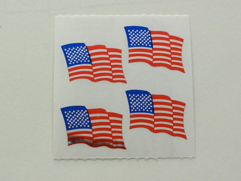 Sandylion American Flag Shiny Sticker Sheet / Module - Vintage & Collectible