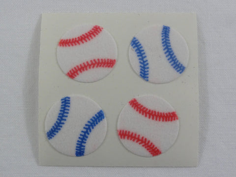 Sandylion Baseball Fuzzy Sticker Sheet / Module - Vintage & Collectible