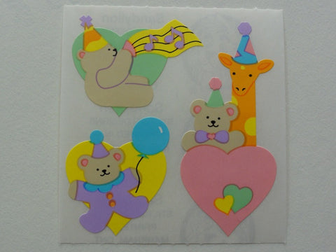 Sandylion Birthday Baby Bear Sticker Sheet / Module - Vintage & Collectible