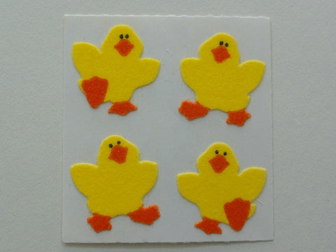 Sandylion Duck Fuzzy Sticker Sheet / Module - Vintage & Collectible
