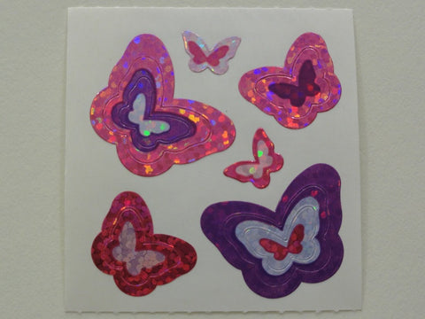 Sandylion Butterfly Glitter Sticker Sheet / Module - Vintage & Collectible