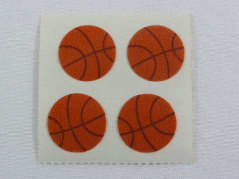 Sandylion Basketball Fuzzy Sticker Sheet / Module - Vintage & Collectible
