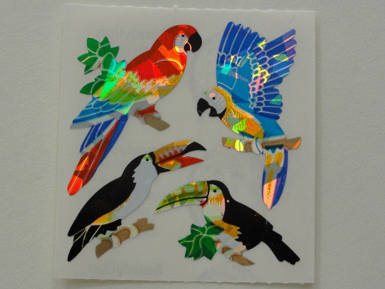 Sandylion Birds Prismatic Sticker Sheet / Module - Vintage & Collectible