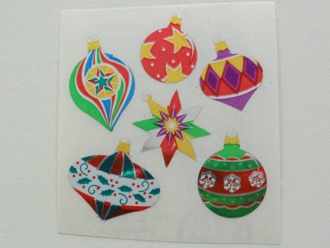 Sandylion Christmas Ornaments Mylar Foil Sticker Sheet / Module - Vintage & Collectible