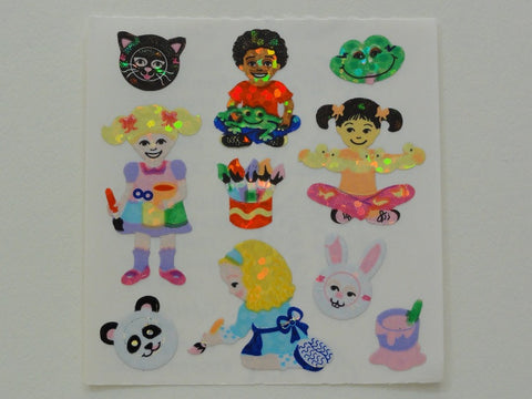 Sandylion Children Glitter Sticker Sheet / Module - Vintage & Collectible