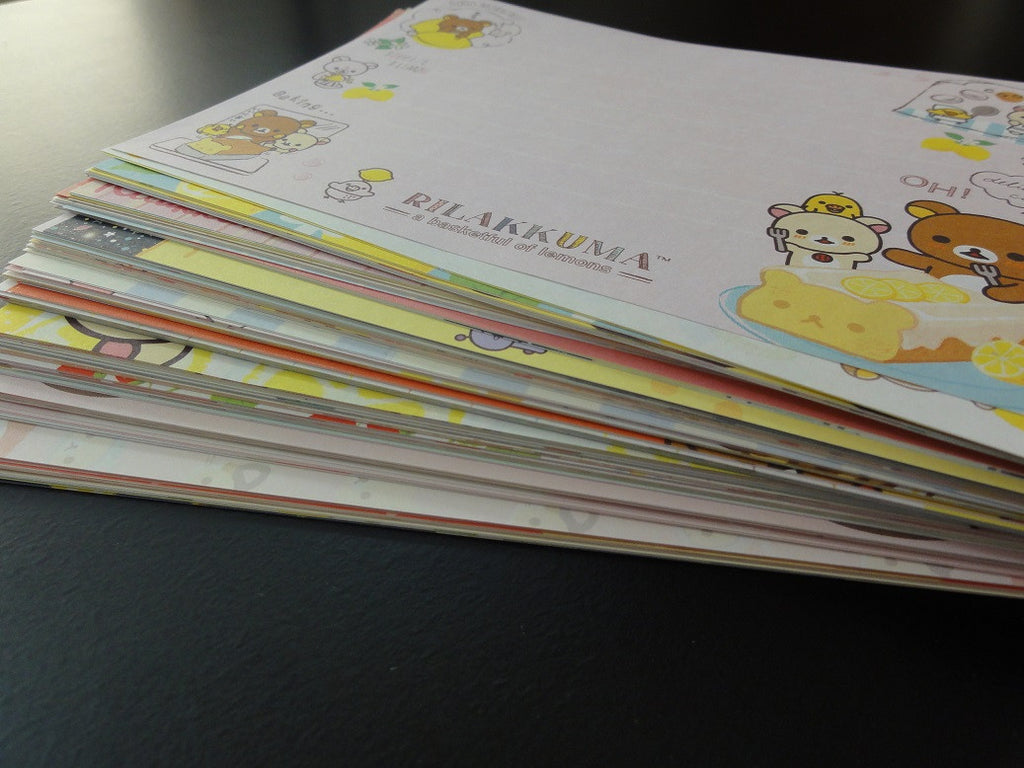 San-X Rilakkuma Bear 158 pc Memo Note Paper Set