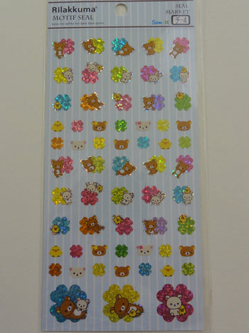 Cute Kawaii San-X Rilakkuma Clover Sticker Sheet