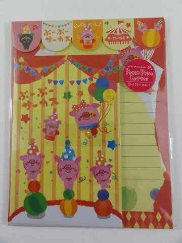Cute Kawaii Pig Circus Letter Sets with Stickers