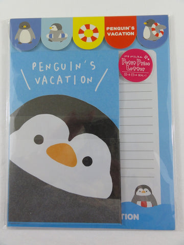Cute Kawaii Penguin's Vacation Letter Sets with Stickers