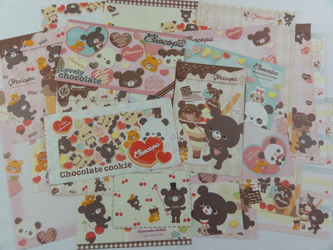 San-X Chocopa Panda Letter Writing Paper + Envelope Stationery Set - Penpal Journal