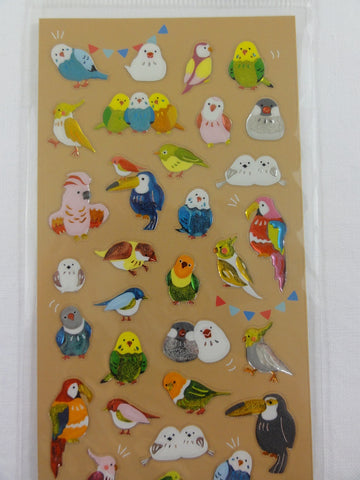 Cute Kawaii Mind Wave Birds Sticker Sheet - for Journal Planner Craft Organizer Scrapbook Notebook