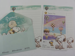 Cute Kawaii Kamio Peanuts Snoopy Mini Letter Sets - G -  Small Writing Gift Secret Note Envelope Set Stationery