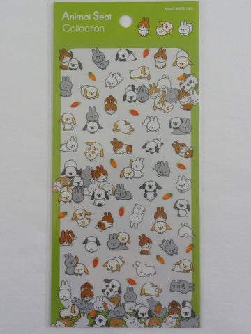 Cute Kawaii Mind Wave Bunny Rabbit Animal Sticker Sheet - for Journal Planner Craft Organizer Calendar