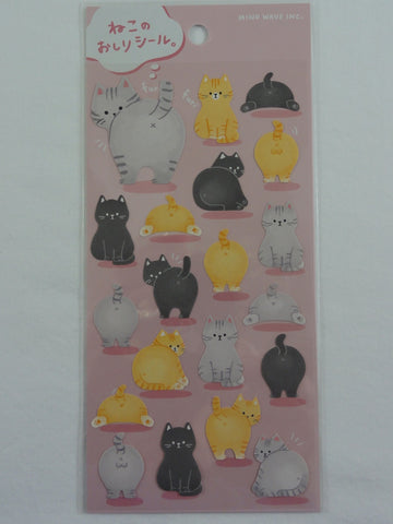 Cute Kawaii Mind Wave Cat Feline Sticker Sheet - for Journal Planner Craft Scrapbook Notebook Organizer