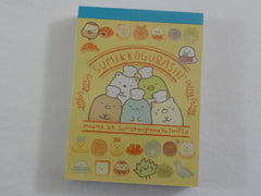 Cute Kawaii San-X Sumikko Gurashi Bread Bakers Mini Notepad / Memo Pad - B - 2019