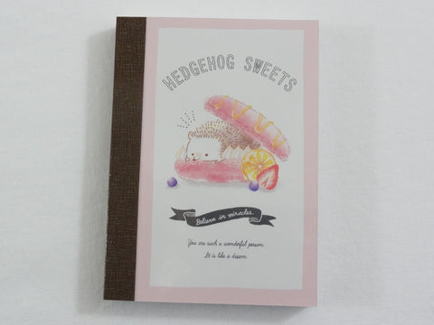 Cute Kawaii Crux Hedgehog Sweets Mini Notepad / Memo Pad - Stationery Designer Paper Collection