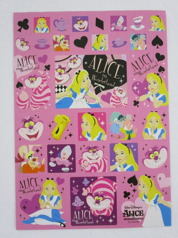 Cute Kawaii Alice Wonderland Sticker Sheet - Collectible - for Journal Planner Craft Stationery
