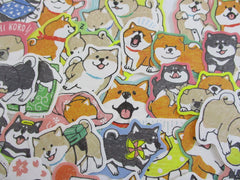 Cute Kawaii Dog Puppies Flake Stickers - 40 pcs - for Journal Planner Craft Scrapbook