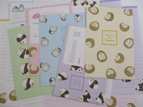 Crux Hedgehog Panda Penguin Letter Sets - Stationery Writing Paper Envelope