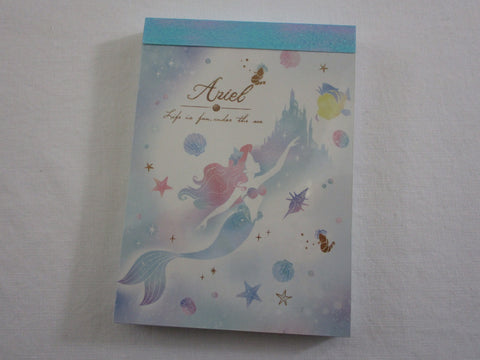 Cute Kawaii Crux Fairy Tale Ariel Princess Mini Notepad / Memo Pad - Stationery Designer Paper Collection