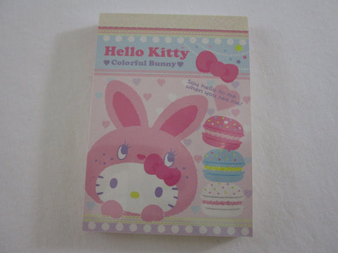 Cute Kawaii Sanrio Hello Kitty Colorful Bunny Mini Notepad / Memo Pad - B - Stationery Design Writing Collection