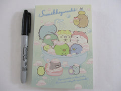 Cute Kawaii San-X Sumikko Gurashi Bath Shower theme 4 x 6 Inch Notepad / Memo Pad - Stationery Designer Paper Collection