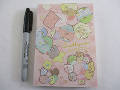 Cute Kawaii San-X Sumikko Gurashi Night Sleep Pajama Party theme 4 x 6 Inch Notepad / Memo Pad - Stationery Designer Paper Collection