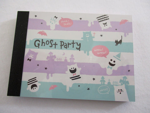 Cute Kawaii Crux Ghost Party Mini Notepad / Memo Pad - Stationery Design Writing Collection