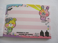 Cute Kawaii Crux Ghost Mini Notepad / Memo Pad - Stationery Design Writing Collection