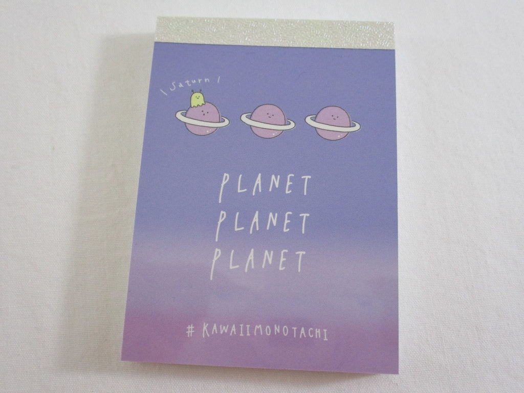 Cute Kawaii Kamio Planet Planet Mini Notepad / Memo Pad - Stationery Design Writing Collection