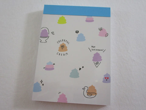 Cute Kawaii Crux Funny Colorful Poop Mini Notepad / Memo Pad - Stationery Design Writing Collection