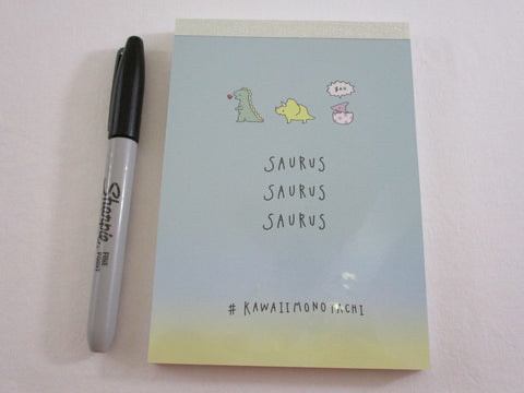 Cute Kawaii Kamio Dinosaurs 4 x 6 Inch Notepad / Memo Pad - Stationery Designer Paper Collection