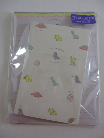 Cute Kawaii Kamio Dinosaurs Little Dino Letter Set Pack - Stationery Writing Paper Penpal