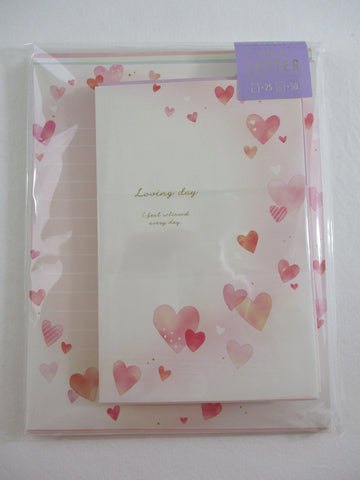 Cute Kawaii Kamio Loving Day Hearts Letter Set Pack - Stationery Writing Paper Penpal