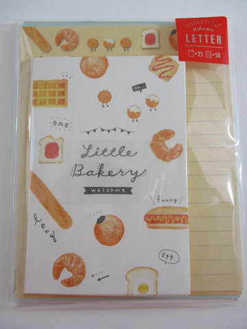 Cute Kawaii Kamio Little Bakery Letter Set Pack - Stationery Writing Paper Penpal