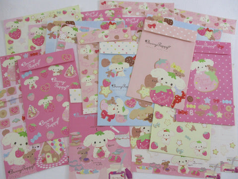 Cute Kawaii San-X Strawberry Puppy Dog Letter Writing Paper + Envelope Theme Stationery Set