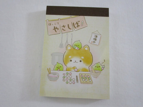 Cute Kawaii Crux Dog and Mochi Mini Notepad / Memo Pad - Stationery Design Writing Collection
