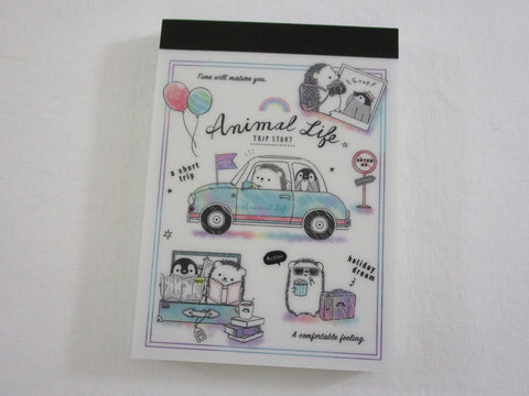 Cute Kawaii Kamio Hedgehog Dream Holiday Road Trip Mini Notepad / Memo Pad - Stationery Designer Paper Collection