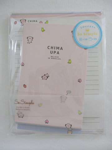 Cute Kawaii Crux Baby Crocodile Kitten Cat Pig Dino Letter Set Pack - Stationery Writing Paper Penpal