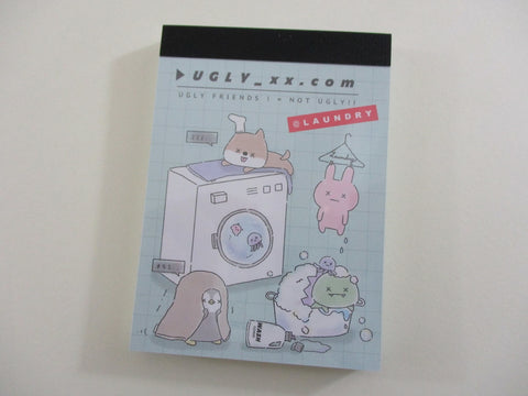 Cute Kawaii Kamio Dog Rabbit Penguin Laundry Friends Mini Notepad / Memo Pad - Stationery Designer Writing Paper Collection