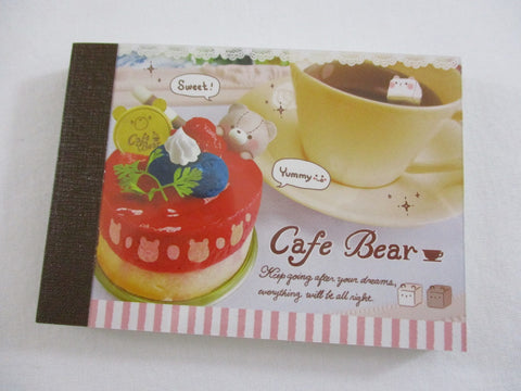 Cute Kawaii Crux Cafe Bear Mini Notepad / Memo Pad - Stationery Designer Paper Collection