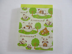 Cute Kawaii San-X Rilakkuma Bear Panda Mini Notepad / Memo Pad - A - Stationery Writing Message
