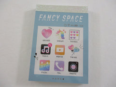 Cute Kawaii Crux #Game Phone Menu Icons Fancy Space Mini Notepad / Memo Pad - Stationery Designer Paper Collection
