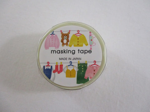 Cute Kawaii Mind Wave Washi / Masking Deco Tape - Outfit Clothings Dress Tops - for Scrapbooking Journal Planner Craft